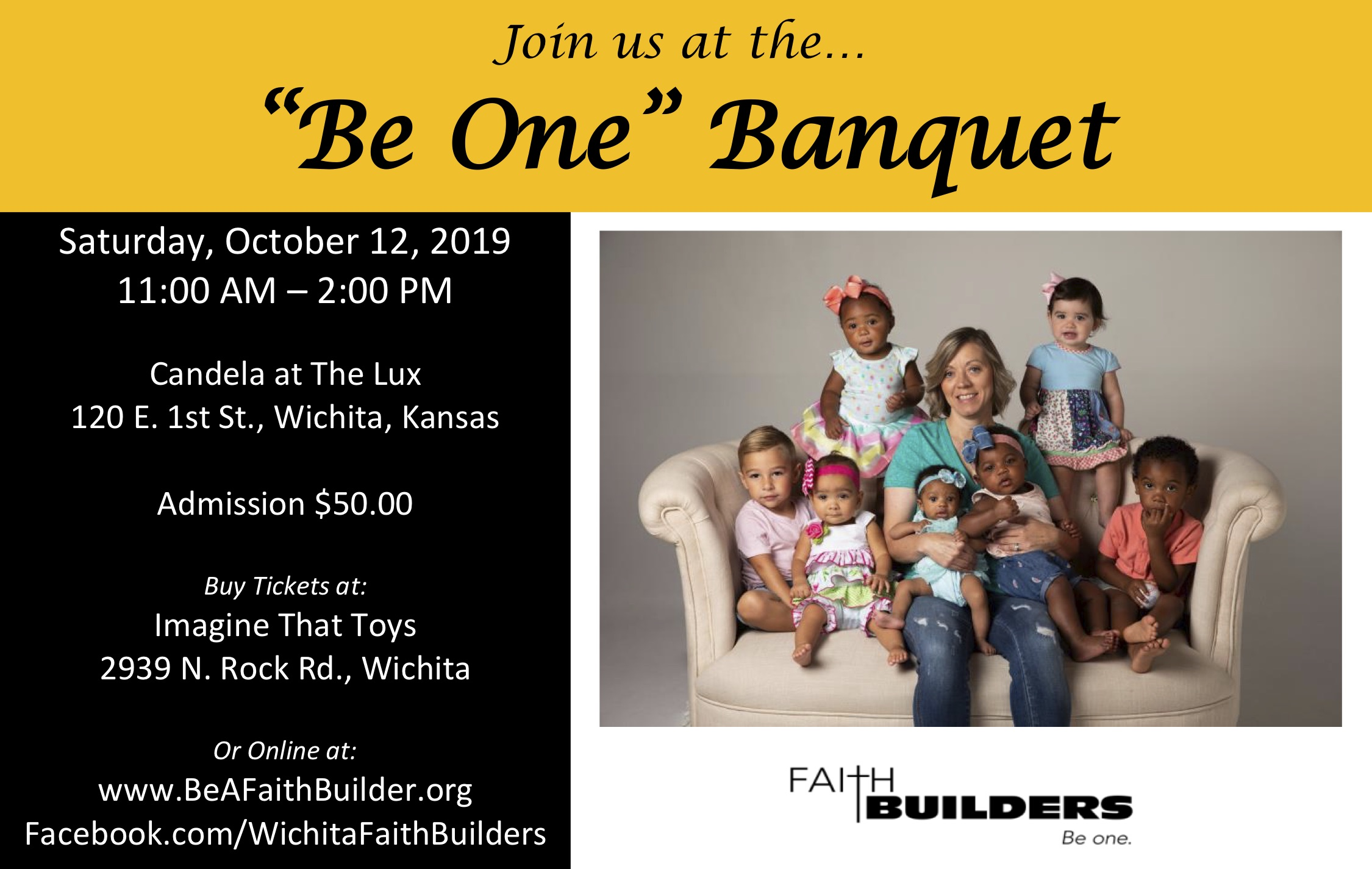 Be One Banquet Flyer