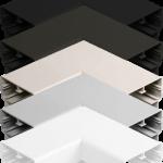 90deg Rectangular Corner available in 5 colors: Black, Bronze, Clay, Natural, White