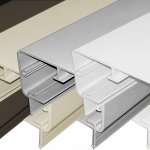 Rectangular Top Rail for Aluminum Square 5 color systems.