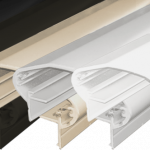 Shaped Top Rail for Aluminum Square 5 color systems.