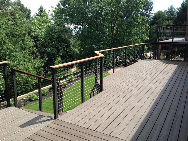 Bronze Post to Post WoodTR Cable Infill Pleasanton CA 3