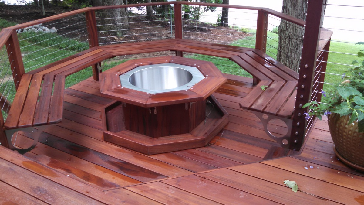 Lake Gaston NC IPE Post and Rail with Stainless Cable Railing and QuickNut End Hardware (1)