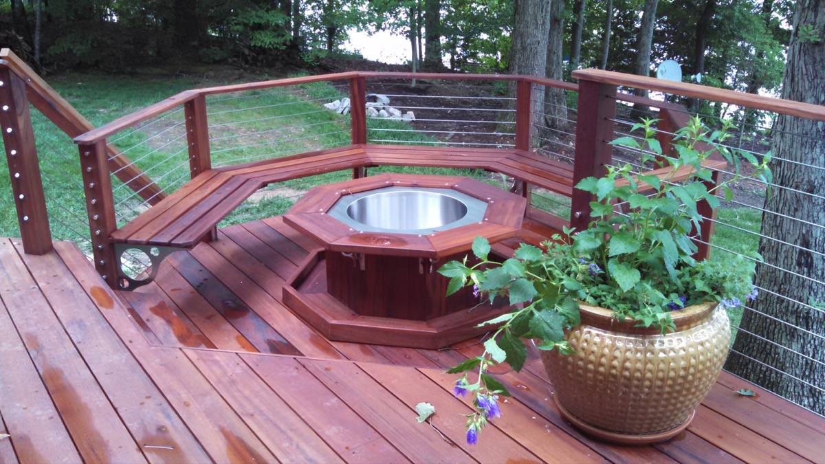 Lake Gaston NC IPE Post and Rail with Stainless Cable Railing and QuickNut End Hardware (7)