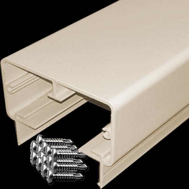 Rectangular aluminum top rail with 14 screws