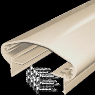 20ft stick rounded rectangular shape aluminum Top Rail with screws