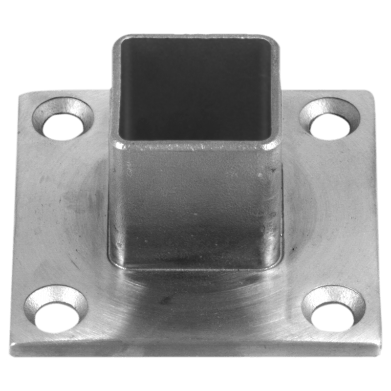 Floor flange for square stainless terminal posts