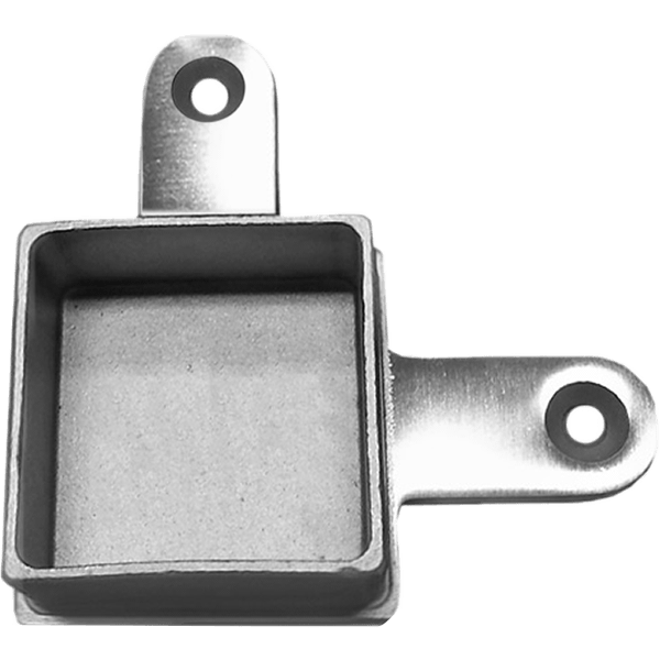 Square stainless intermediate post to top rail mount for single corner posts