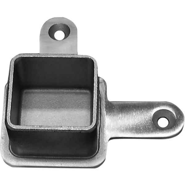 Stainless Steel low post cap for 90 degree turn of flat top rail