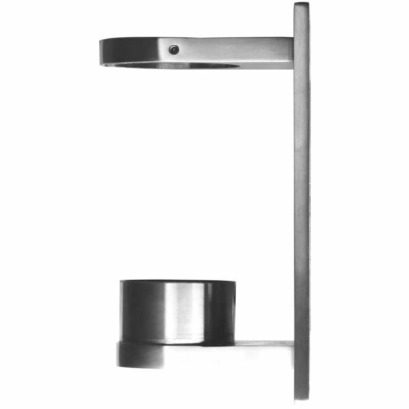 2in Round Fascia Bracket with rectangular attaching plate.