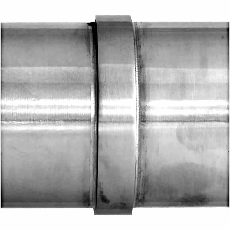 2in inline splice for 2in radius top rail