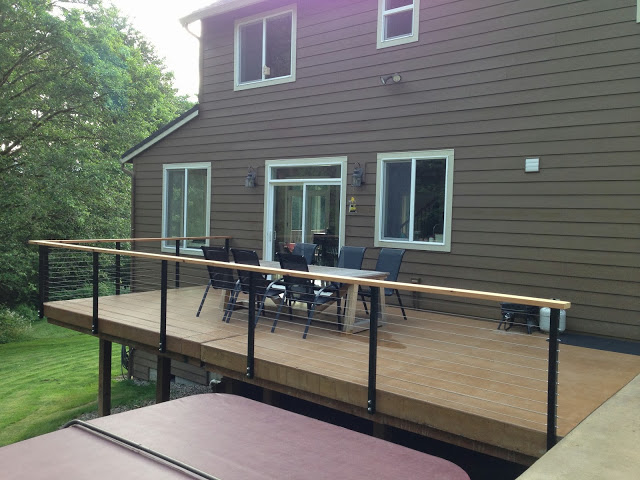 Yacolt WA Stainless Cable Railing Installation 4