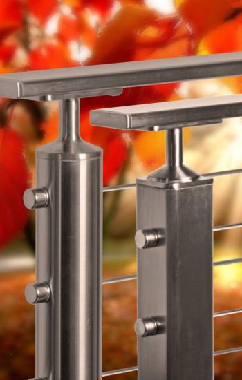 Flat Rectangular Stainless Steel Top Rail