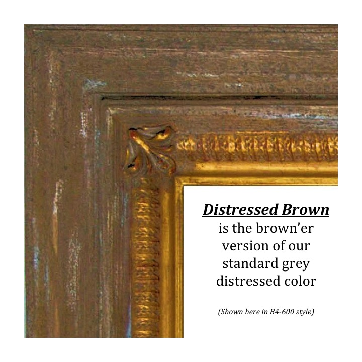 Distressed Brown, Bitterroot Frames, Finishes