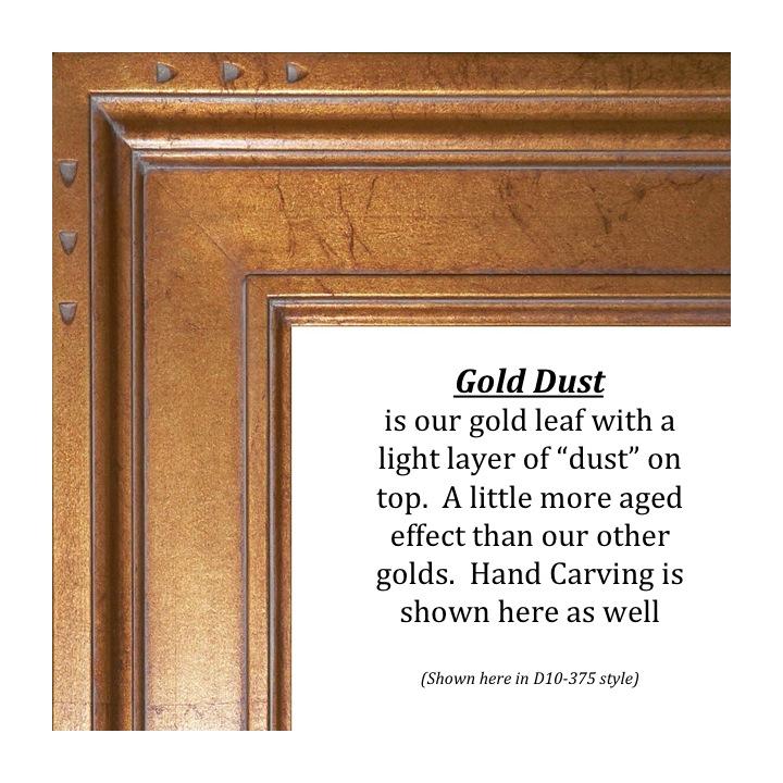 Gold Dust, Bitterroot Frames, finishes, custom frames