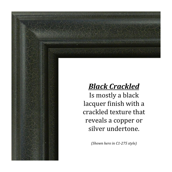 Black Crackled, Bitterroot Frames, finishes, custom frames