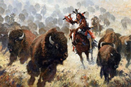 Buffalo Thunder, artist C.M. Dudash, limited edition giclee print