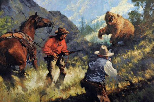 Encounter with the King, artist C.M. Dudash, limited edition giclee print