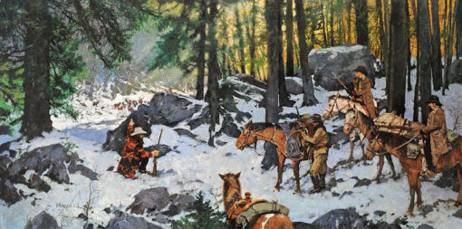 Livin' Off the Land, artist C.M. Dudash, limited edition giclee print