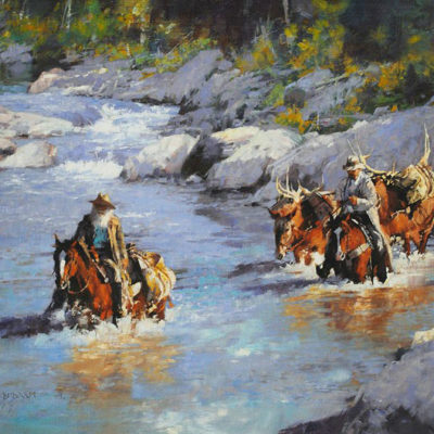 Movin' Down the River, artist C.M. Dudash, limited edition giclee print