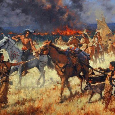 Prairie Fire, artist C.M. Dudash, limited edition giclee print