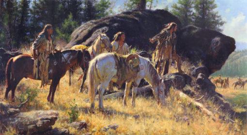 The Watchers by Don Oelze, western prints