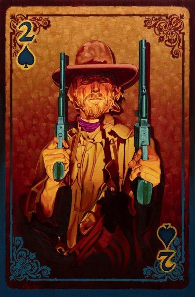 Limited Edition Giclee print, Double Trouble by artist Michael Blessing