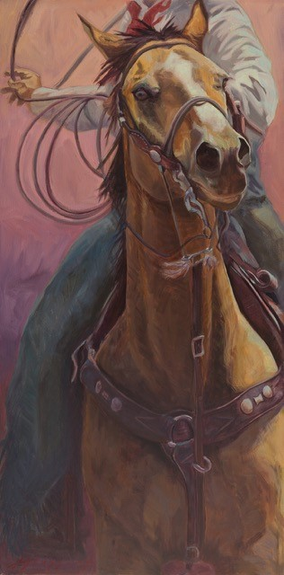 30x15 giclee print, Cowboy Up by artist Meagan Blessing