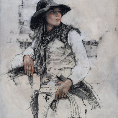 Cowgirl, giclee print by Michael Dudash