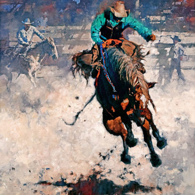 Rodeo Hangin' Tough, giclee print by Michael Dudash