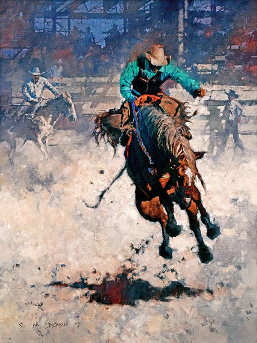 Rodeo Hangin' Tough, giclee print by Michael Dudash