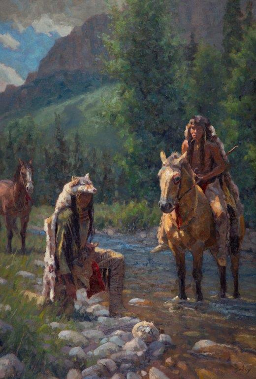 original oil painting, The Wolf Scouts by artist Brandon Bailey