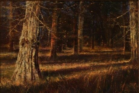 original oil painting, Whitetail Heaven by artist Brent Cotton