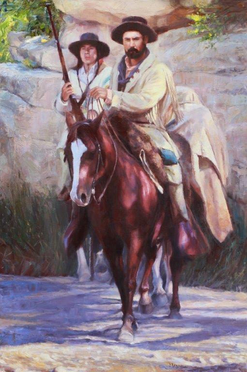 original oil painting, The Bounty Hunter by artist Deborah Berniklau