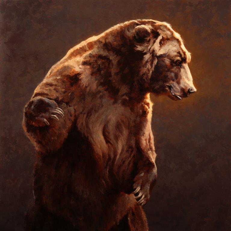 original oil painting, The Heavyweight by artist Jim Bortz