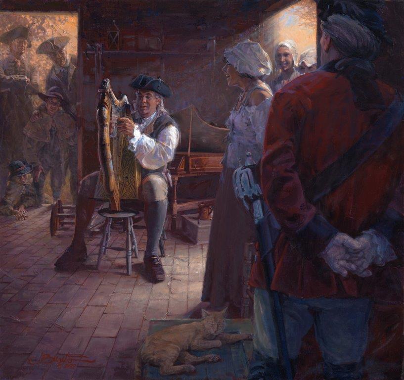 original oil painting, The Spellbinder's Serenade by artist John Buxton