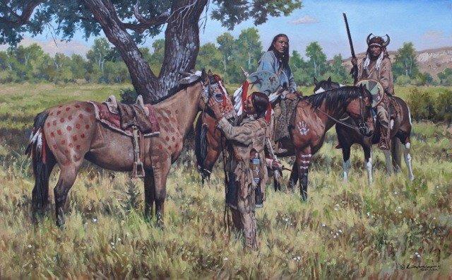 original oil painting, War Medicine by artist Steven Lang