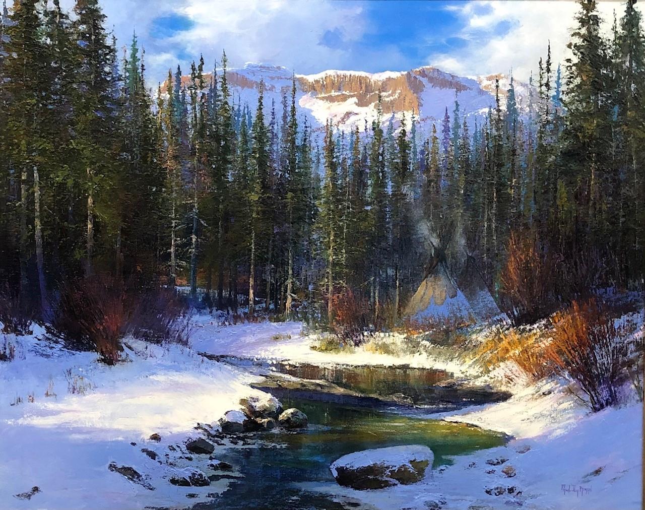 original oil painting, Beaverhead Creek by artist Paul Dykman