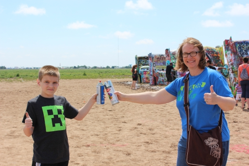 A final toast to Cadillac Ranch