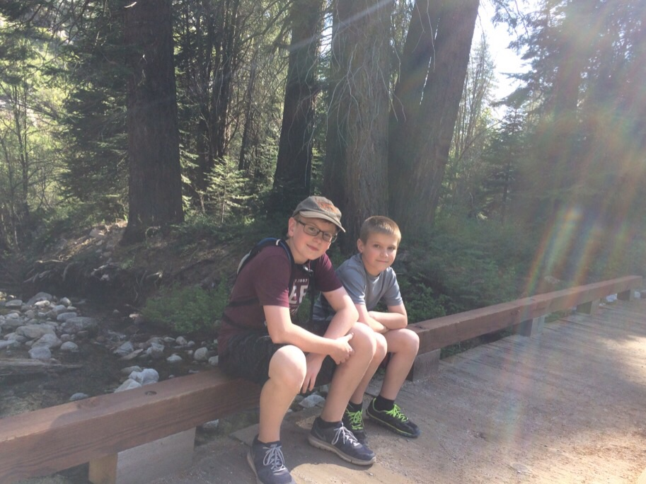 Resting from a hike