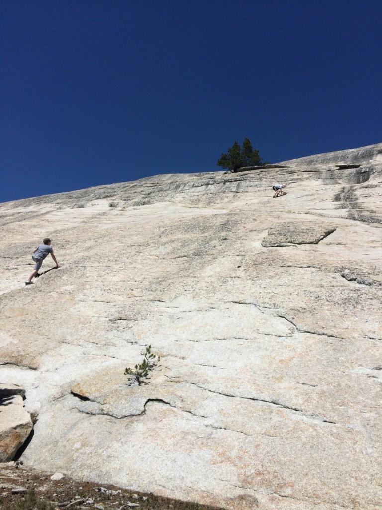 Climbing Pothole Dome