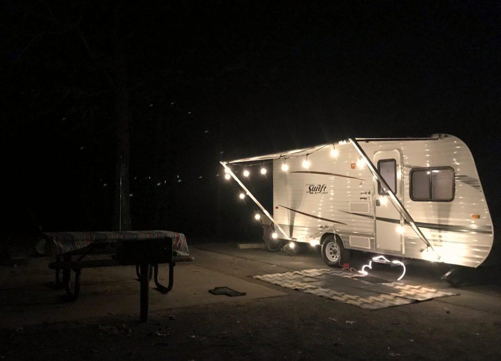 Jayco 184BH with decorative lights