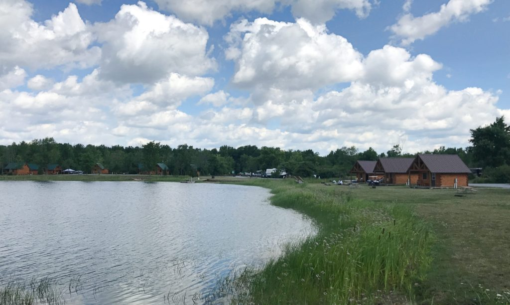 A pond at Branches of Niagara campground