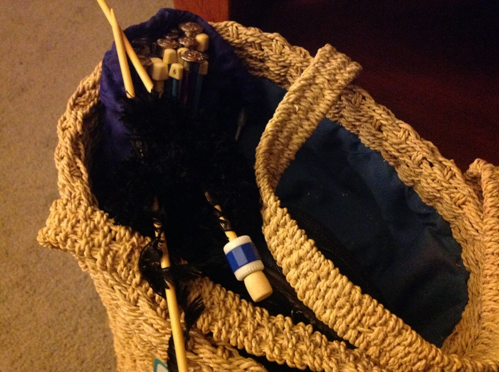 Knitting bag ready for 4-day weekend