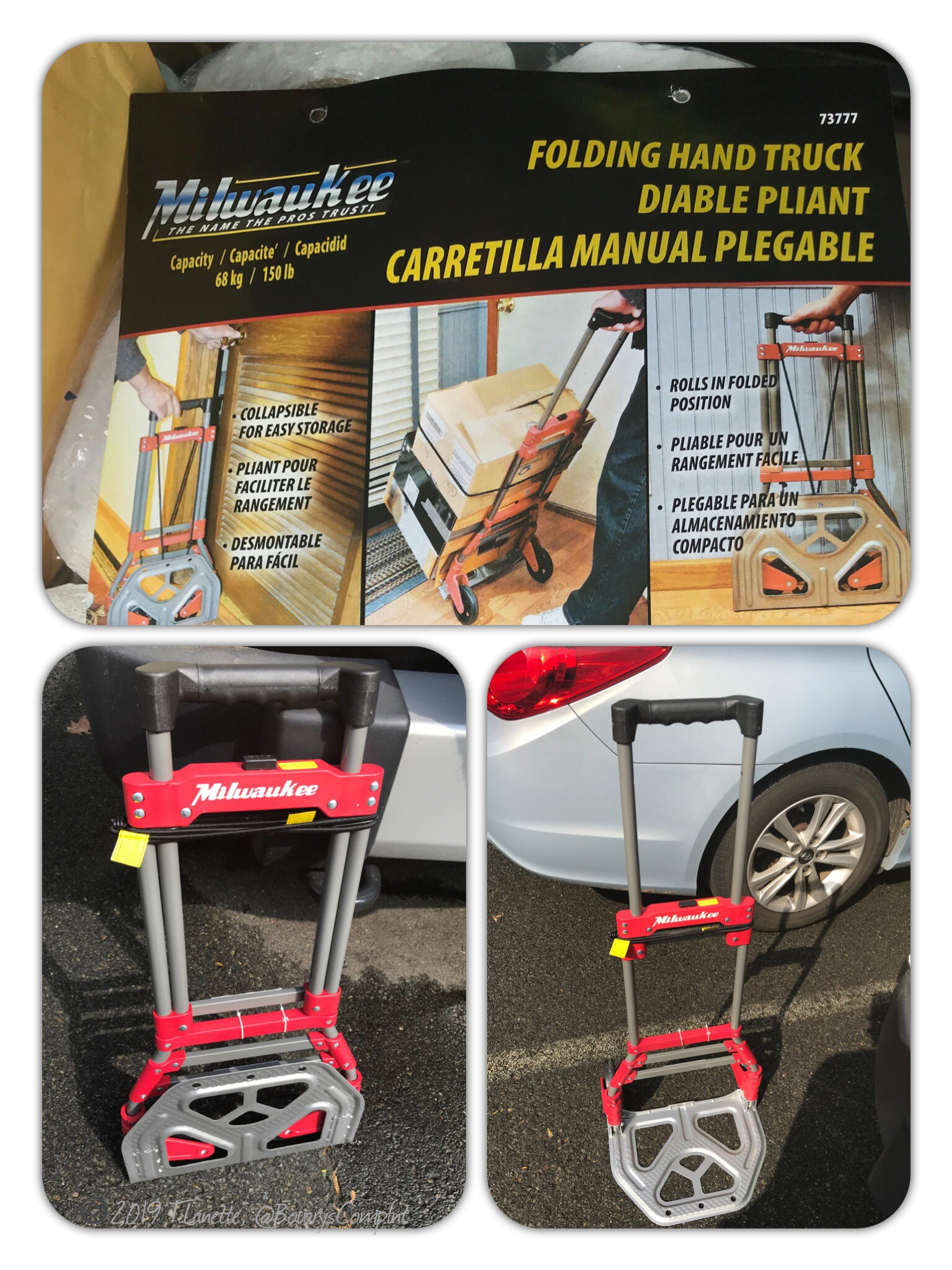 Milwaukee  Folding Hand Truck, A woman's must have