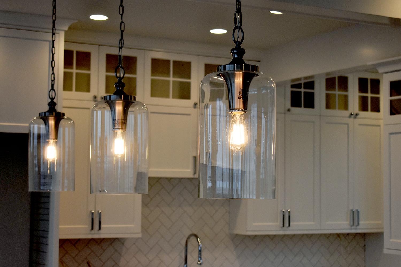 Lighting Fixture in remodeled kitchen in Queen Anne