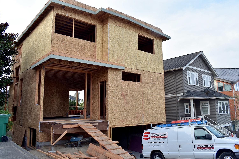 Green Lake New Construction - Back Exterior Framing
