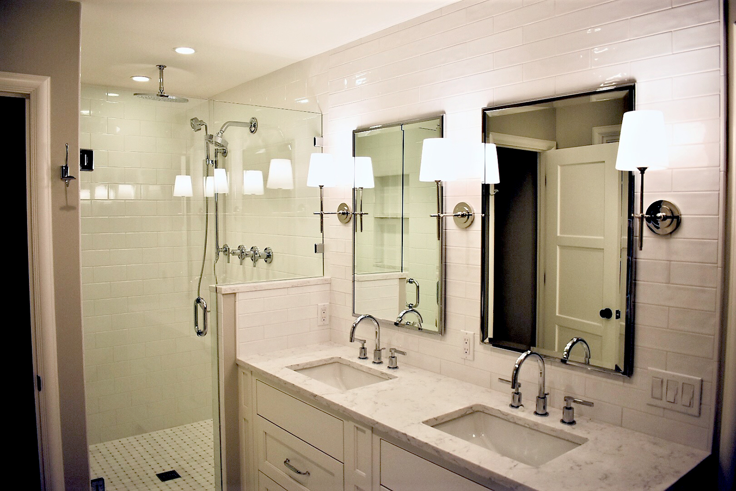 Green Lake New Construction - Bathroom with custom shower fixtures