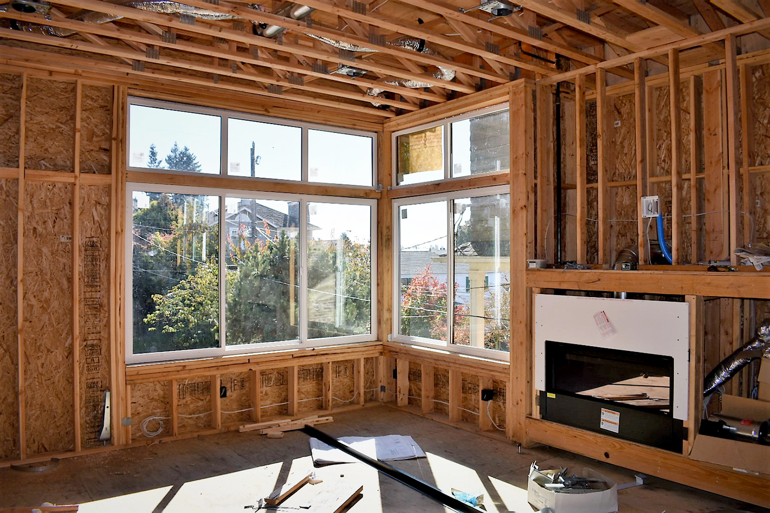 Green Lake New Construction - Master Bedroom in Process
