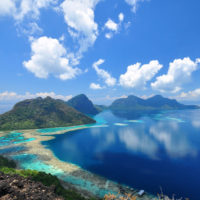 A beautiful scene from Bohey Dulang Peak, Semporna Island. Sabah