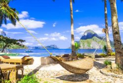 Relaxing Holidays in Tropical Paradise.Philippines Island.